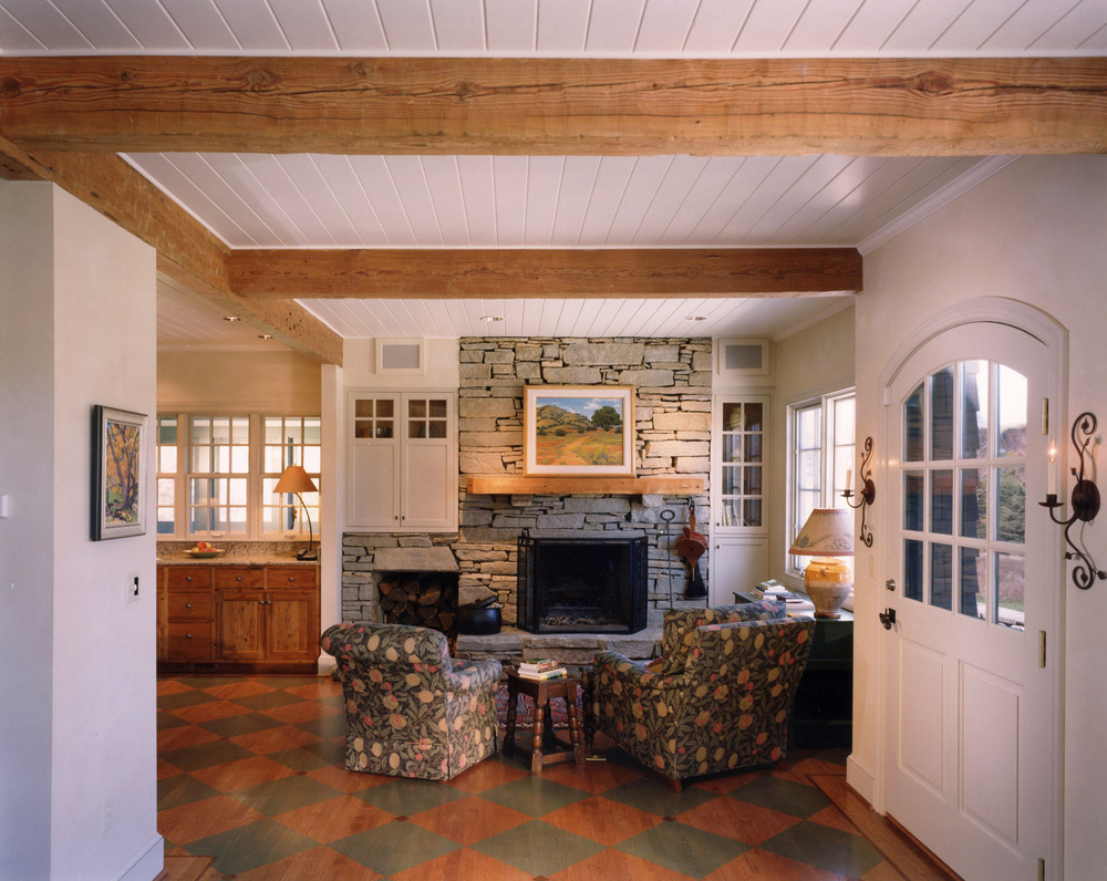 White Walls & Exposed Beams