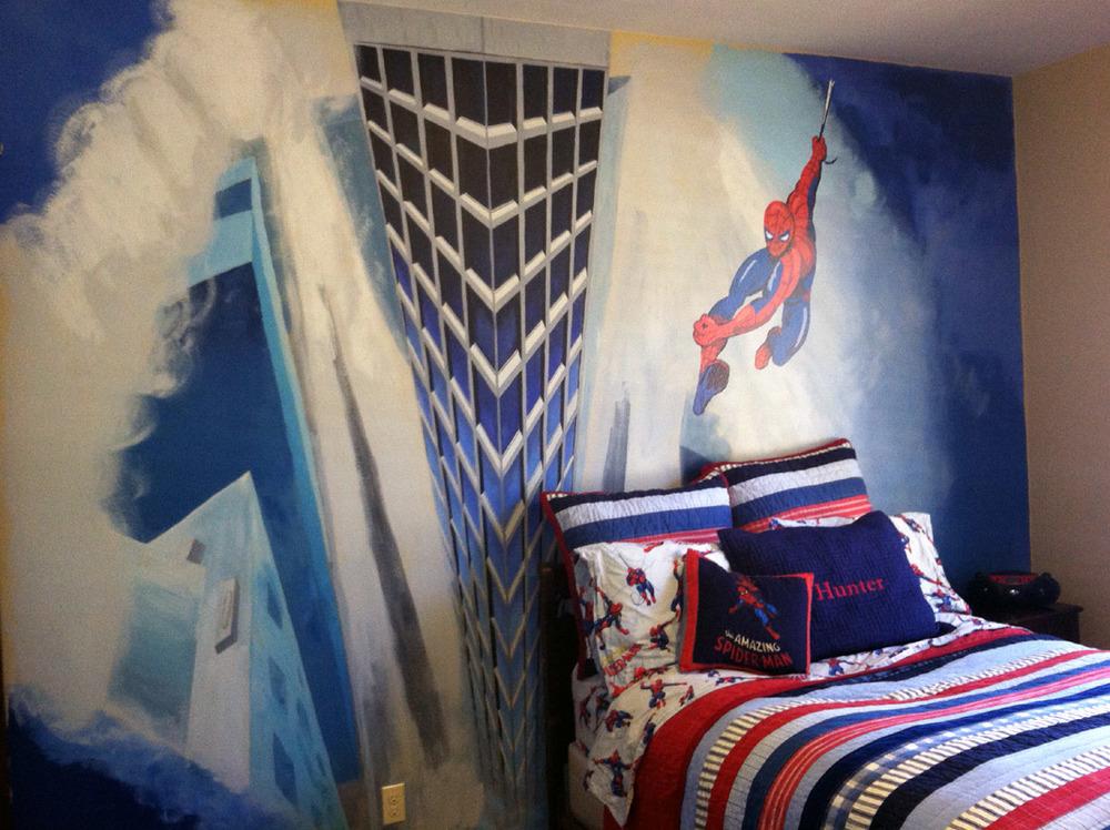 Spiderman Bedroom Wall Mural