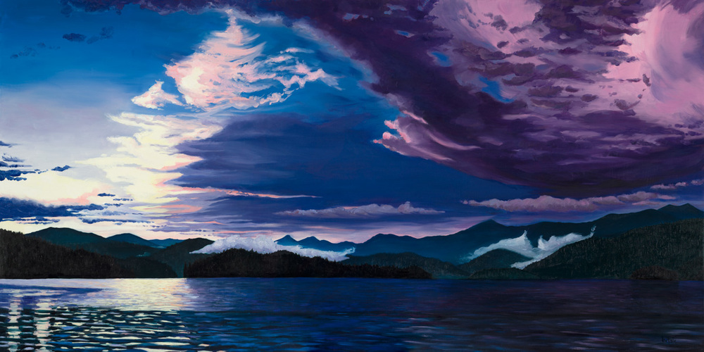 A Storm Clears over Priest Lake - View from Outlet Bay