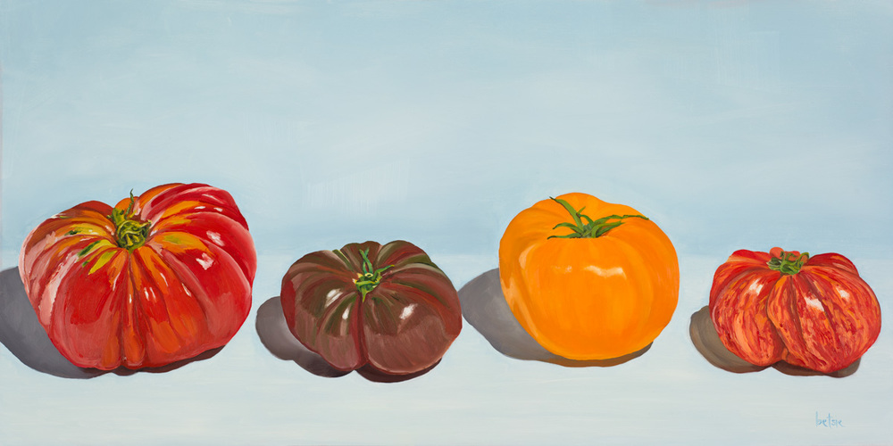 These four well-bred tomatoes walk into a bar...and they all get sauced.