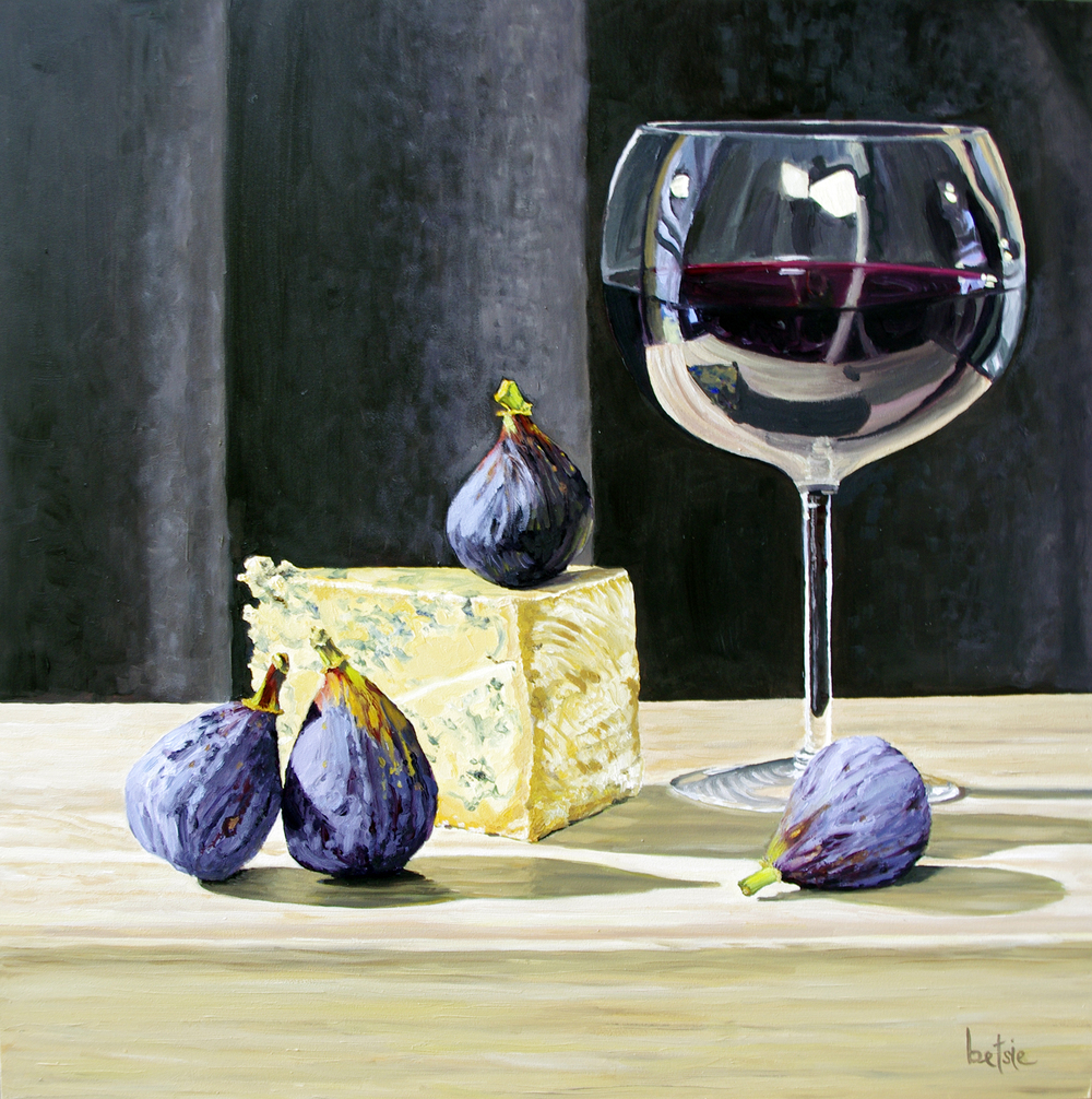 "Full-bodied with a Hint of Fig | 12""x12"" 