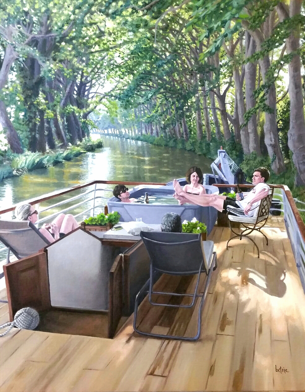 On The Canal du Midi