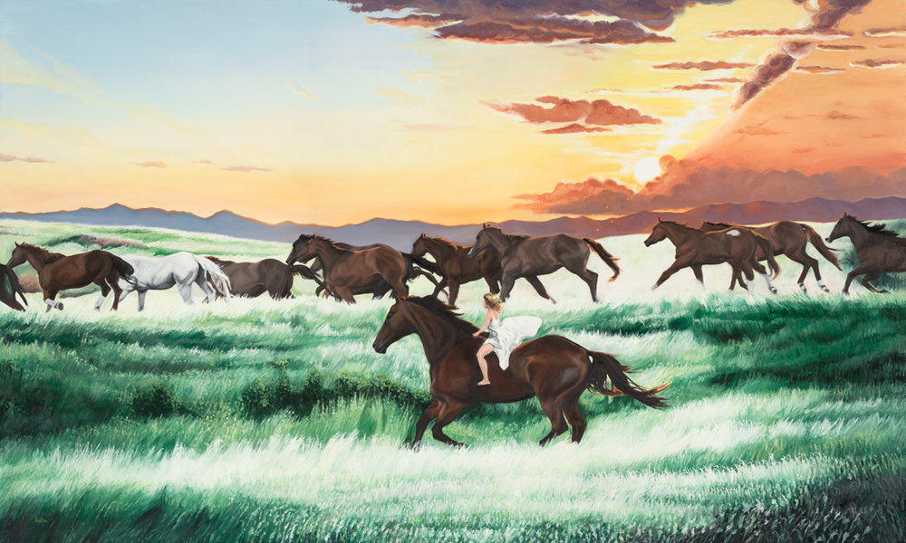 Wild, Free and Forever a Child | oil on linen | 36x60"