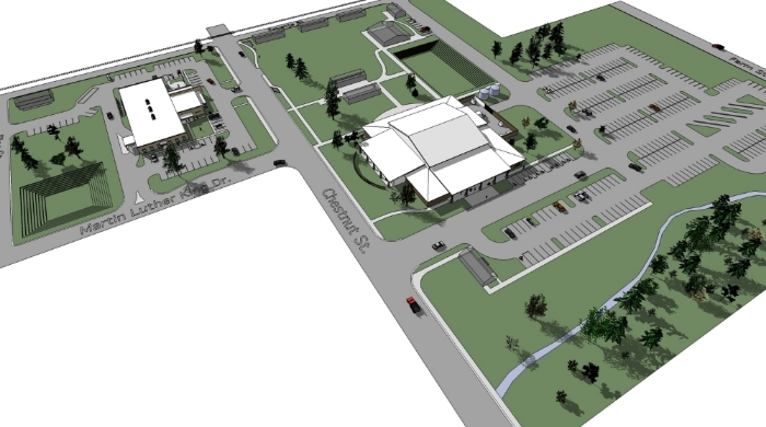 Bastrop Convention/City Hall Site Plan - 1st Iteration
