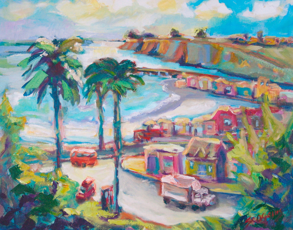 Capitola By the Sea  20x24 oil on canvas