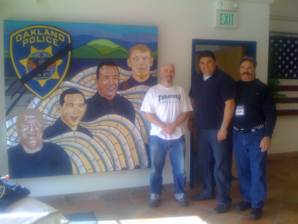 At Oakland Police Officers Associacion with The Pesident and WOZ.JPG