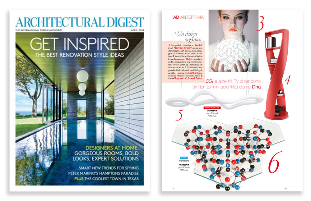 Architectural Digest 2013  — Italy