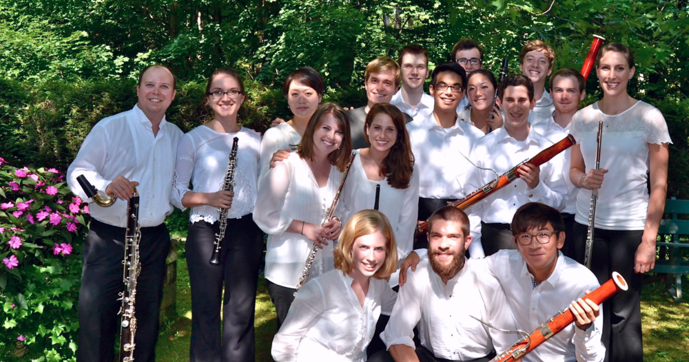 The full woodwind section of the Tanglewood Music Center Orchestra.