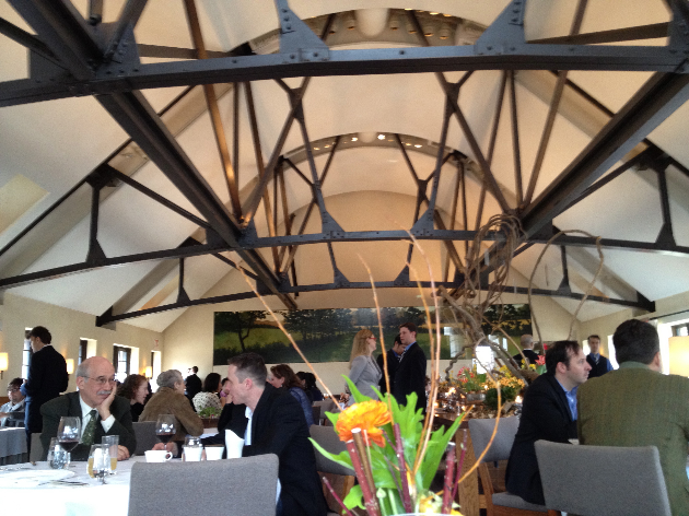 Yes, you are actually dining inside a barn. Stunning.