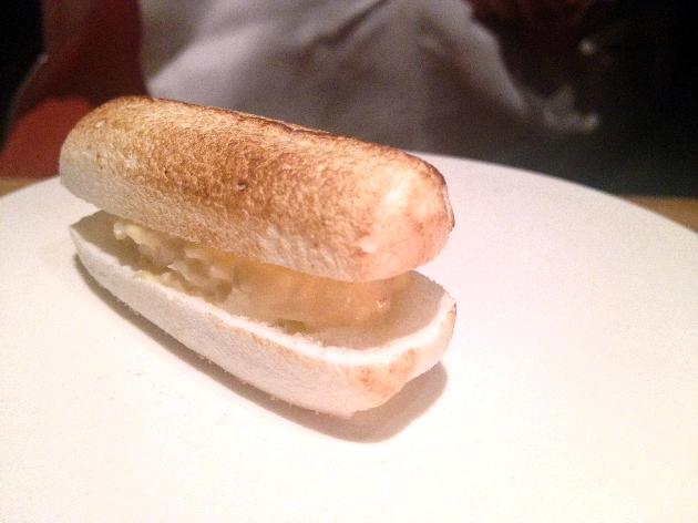Lobster Roll, meringue, mayo. Fab.