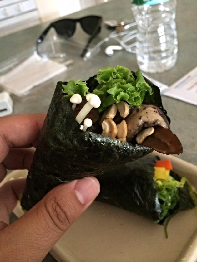 Mushroom Hand Roll