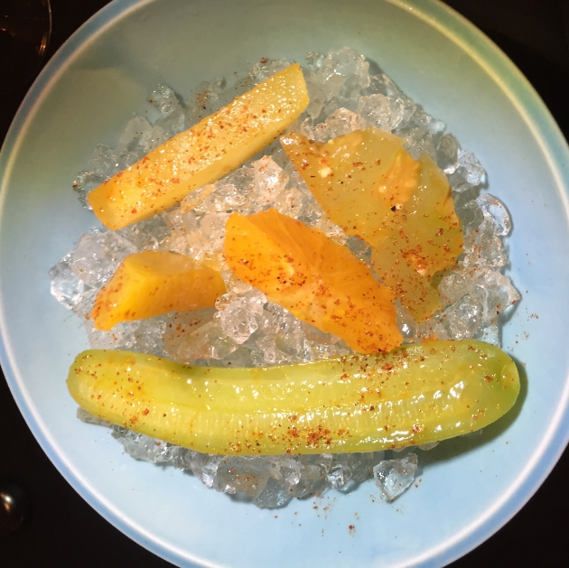 Raw Fruit with Chili Powder