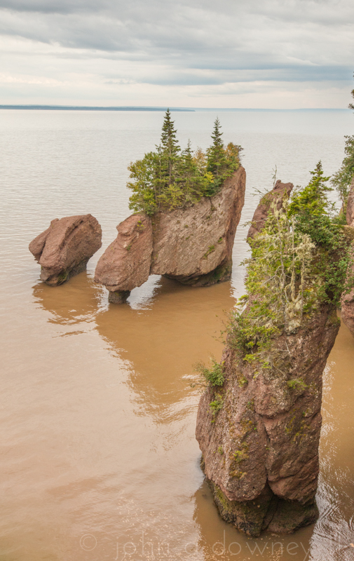 One hour prior to high tide at Hopewell Rocks.  New Brunswick, Canada, 2013.