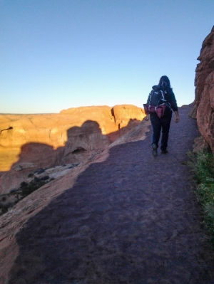 What a torturous hike up to the Delicate Arch in Arches National Park in Moab, Utah, to shoot the sunset and do some night photography...my gear was just too heavy!