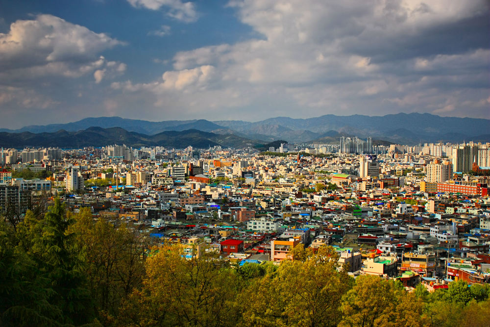 A small part of the city of Daegu, South Korea.