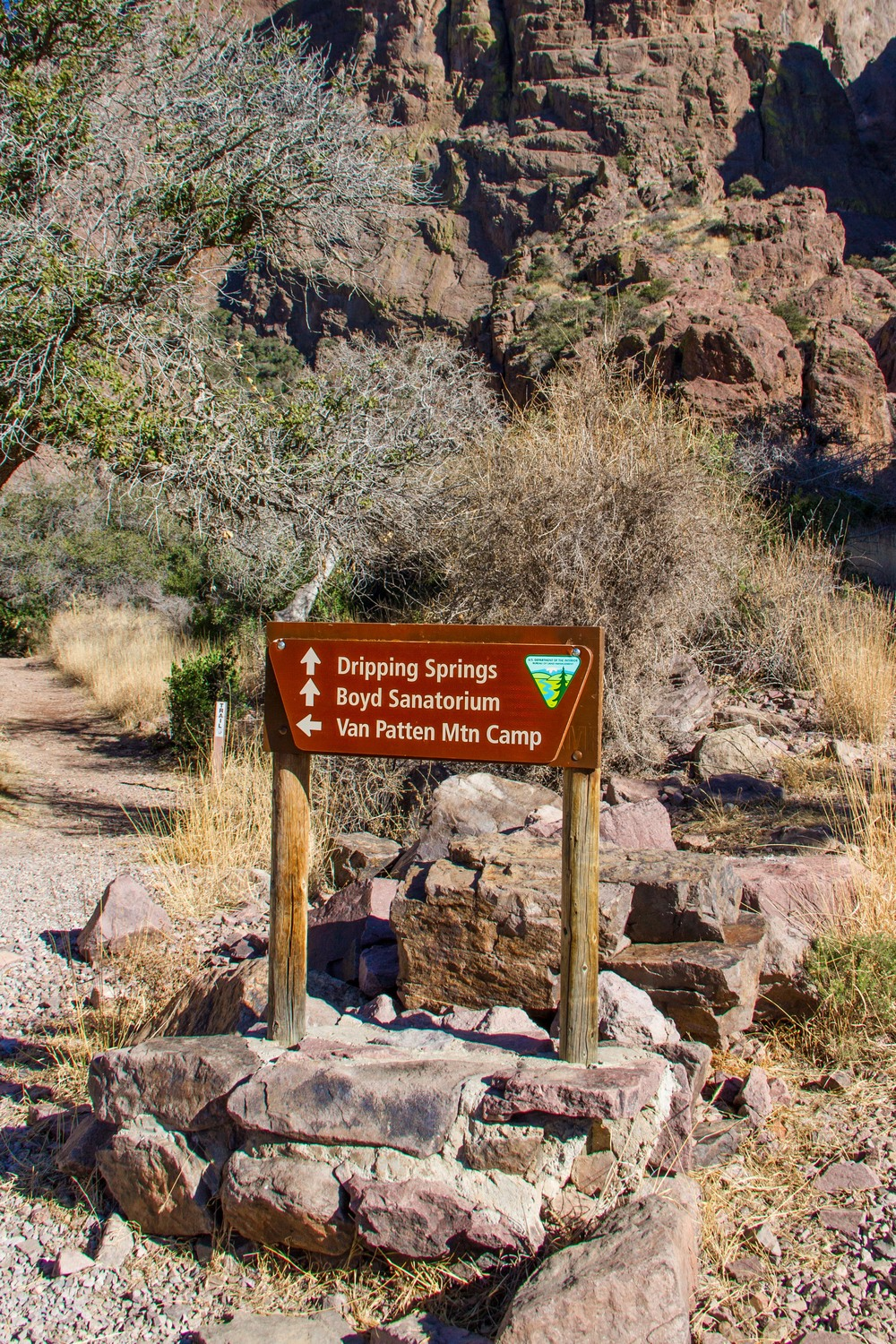 Hiking trails in the Dripping Springs Natural Area are easy to read and clearly marked.  The four  trails within the area are very well kept and easy to follow.