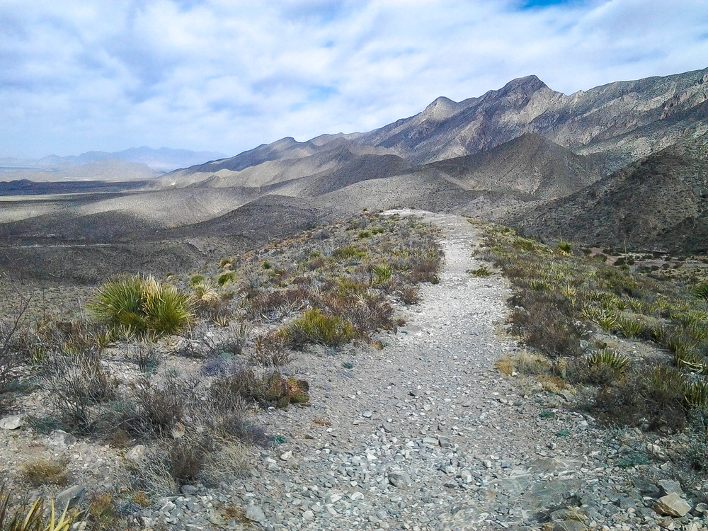 The Upper Sunset Trail in the Tom Mays Unit of Franklin Mountains State Park.