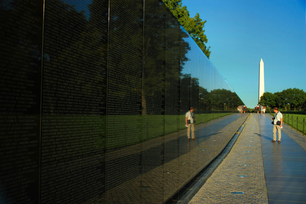 I'm glad this guy messed up my shot in front of the Vietnam Memorial in Washington, D.C.