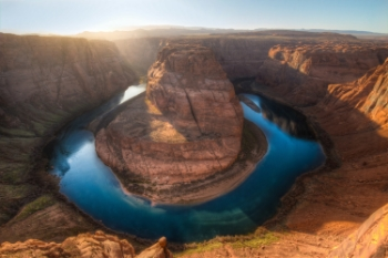 Horseshoe Bend at sunset.