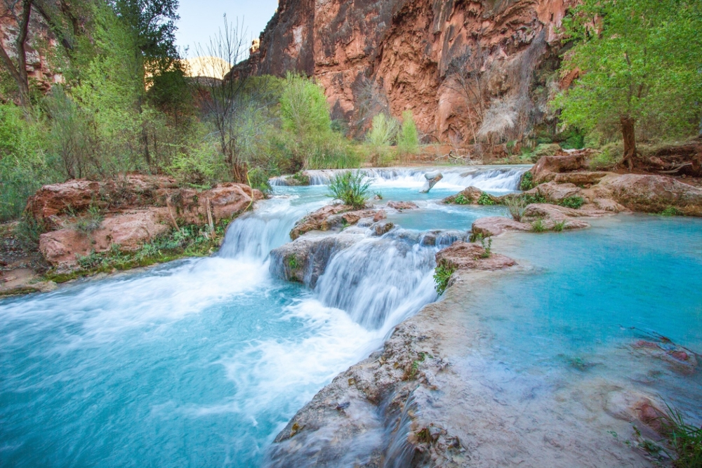 The pools of Havasu Falls.