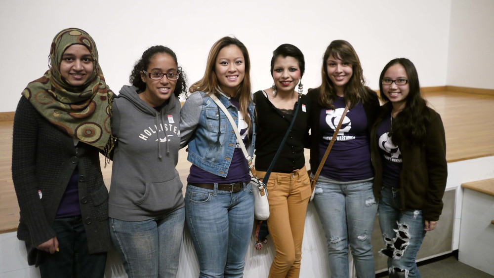 Noemi (far right, second to last) with fellow AW participants and Inocente at the High Museum of Art