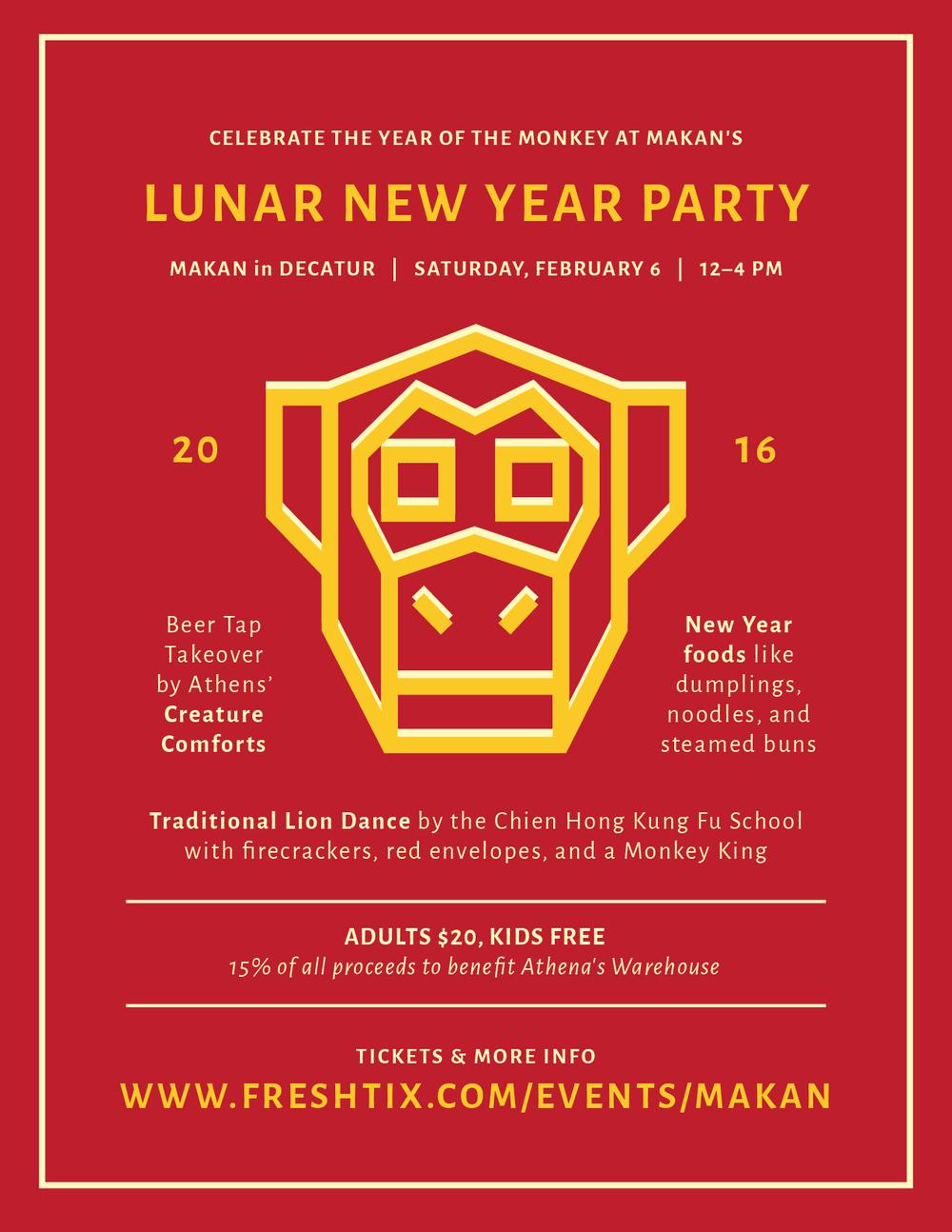 Makans Lunar New Year Party Athenas Warehouse