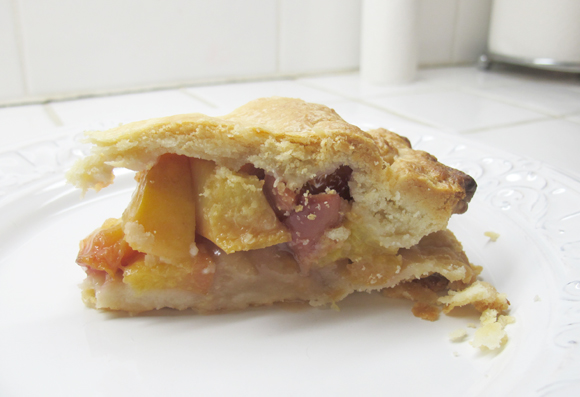 Nectarine &Crystallized Ginger Pie.jpg