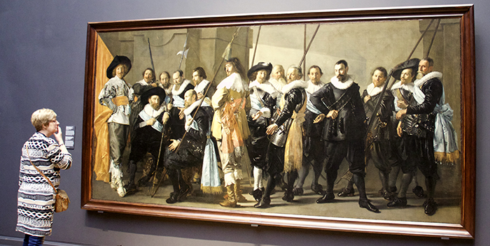 Rembrandt and his men with fancy pants.