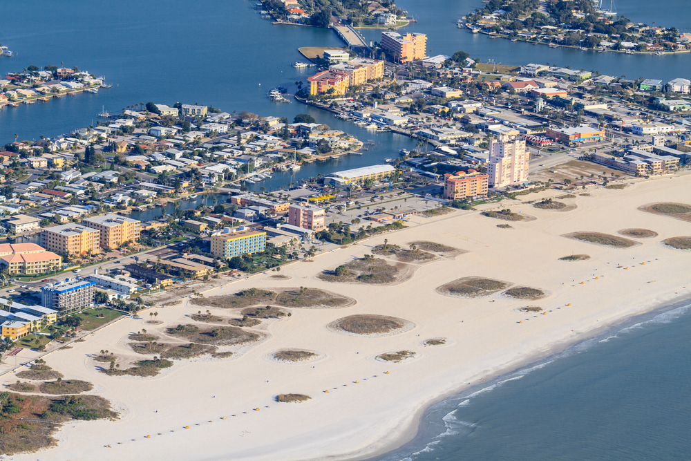 Aerial View St Pete Beach