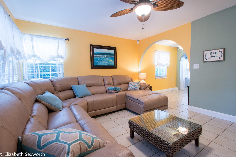 Peach Living Room Peach Hideaway Gulfport Florida Splashy Ventures