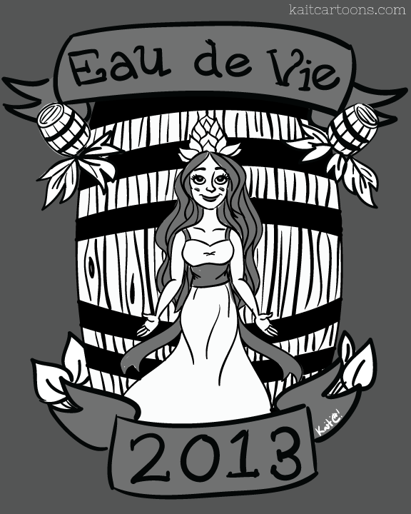 Growler Design for  Eau De Vie Winery .