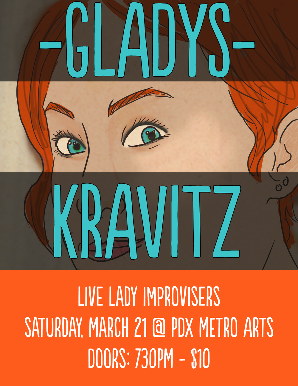 Poster design for ladies improv group.