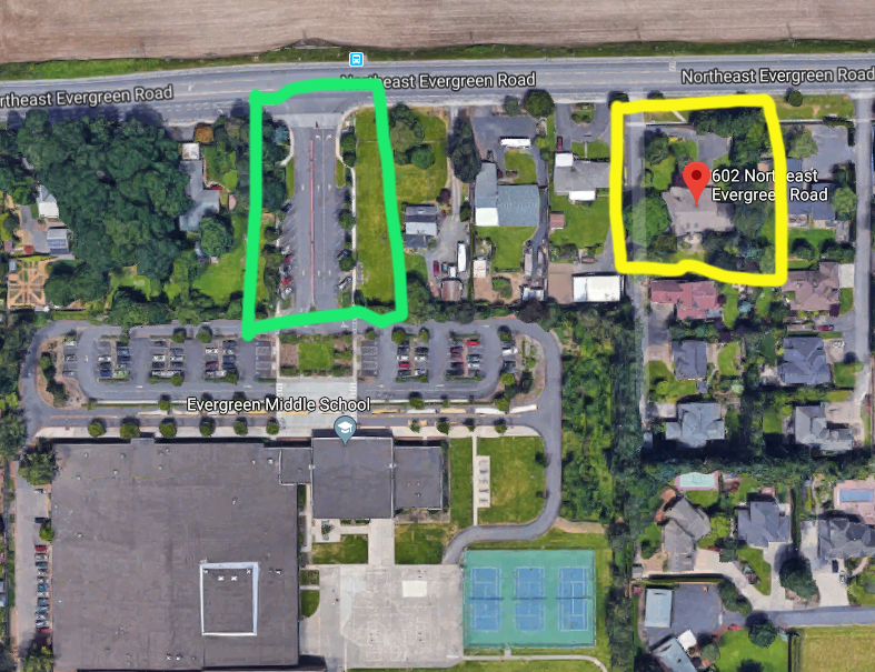 IMAGE B (yellow is our house)