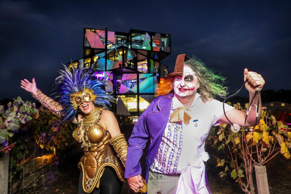 Chester Osmond & Kath Tidemann, Surrealist Ball at D'Arenberg Cube, McLaren Vale