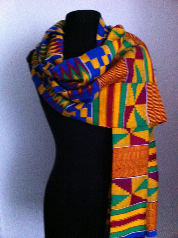 Kente cloth wrap