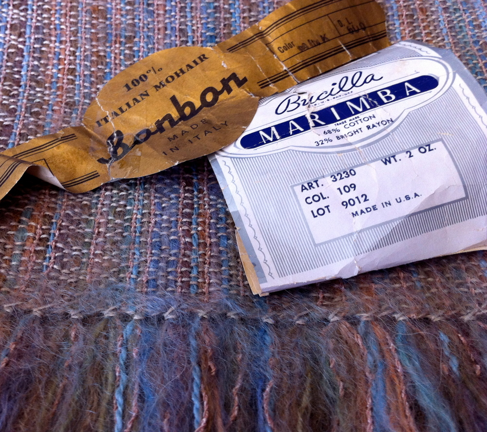 The Albuquerque shawls include vintage Italian mohair and rayon boucle from my mother's stash.