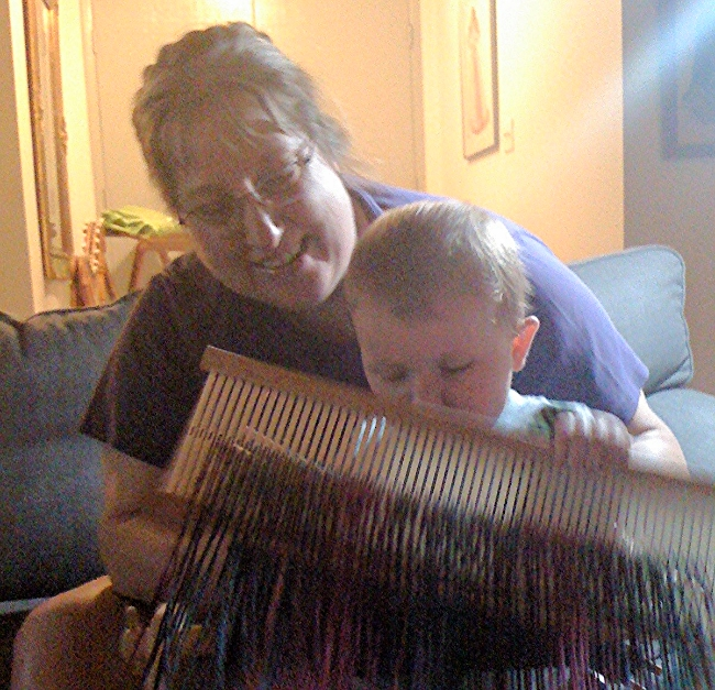 Even babies can figure out how to weave!