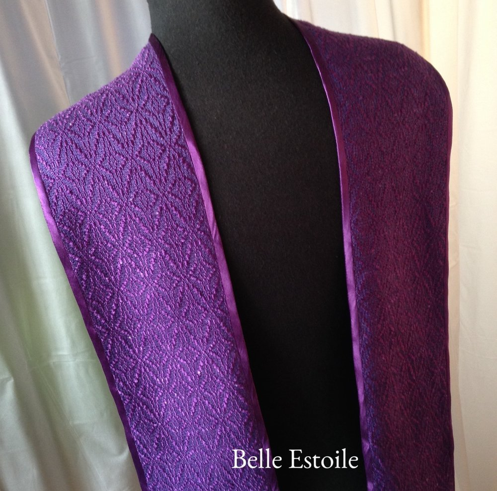 Start of Bethelehem Stole - Purple