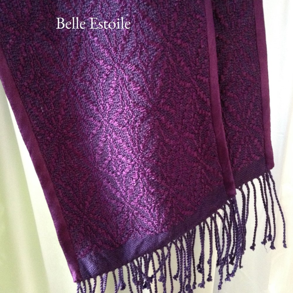 Star of Bethlehem Stole - Purple