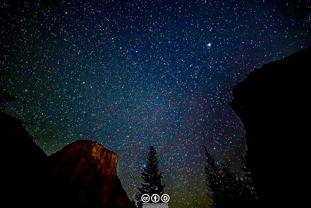 "- ""Night Sky Above El Cap"" by au_earsis licensed under CC BY 2.0"