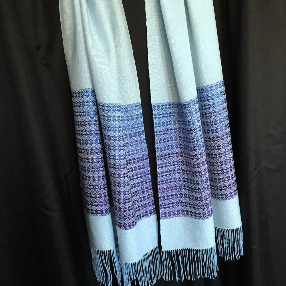 Tallit - Gradient Stripe - Star of David Pattern