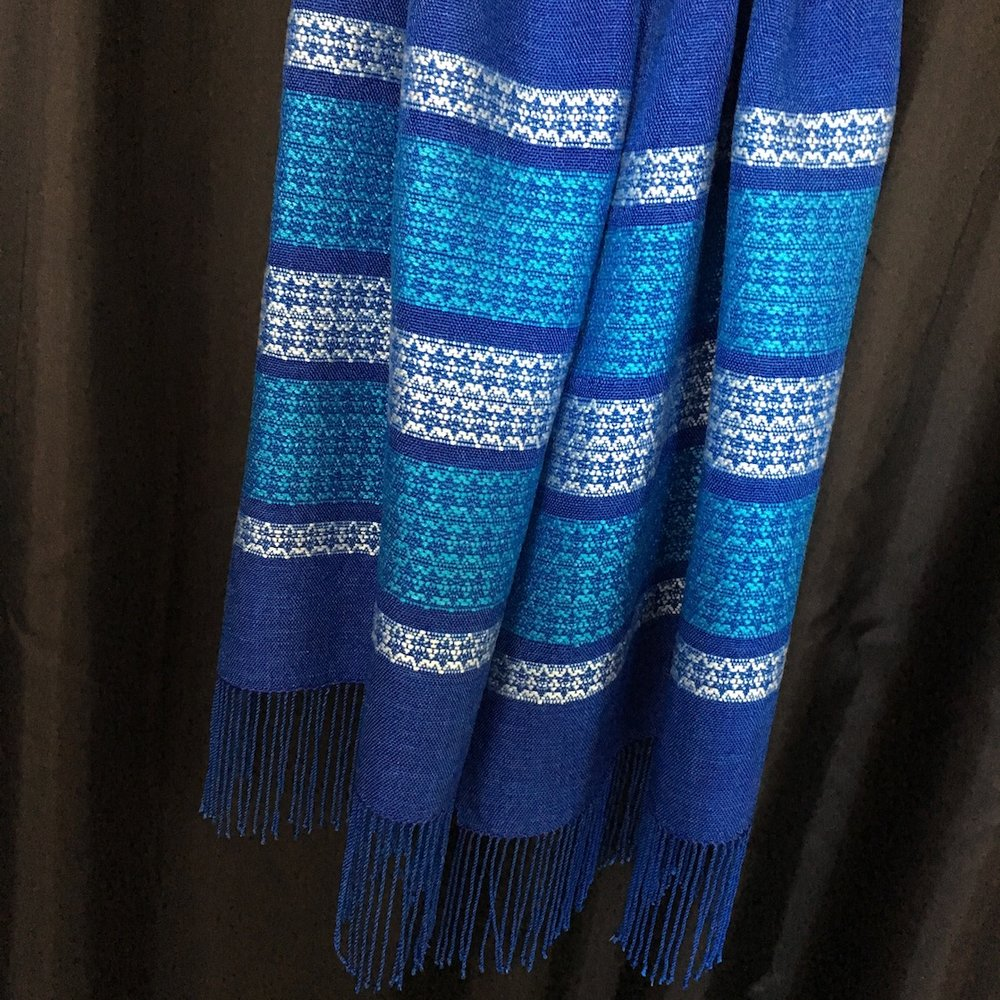 Handwoven Tallit - Star of David Pattern