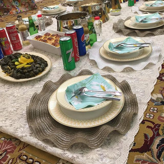 A wonderful traditional #Emirati dinner with dear friends! ❤ #women #traditional #cusine #friends #chillout #Emirati #style
