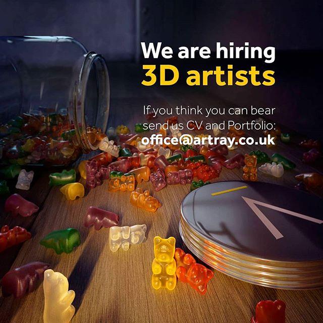 If you think you can BEAR send us a CV and Portfolio! . . . #3dartis #hiring3dartist