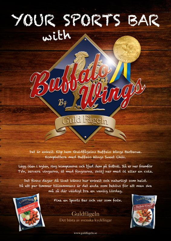 Guldfågeln Buffalo Wings Ad