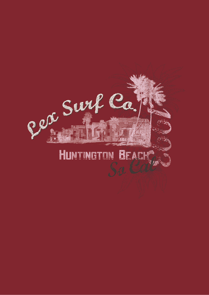 Lexington Surf Inspired T-Shirt Design