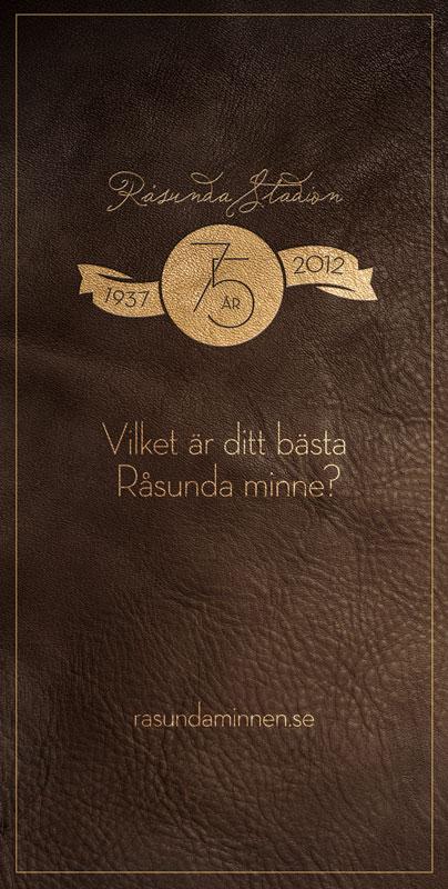 PR Banner for Råsunda Website Launch