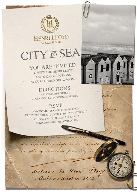 Henri Lloyd Showroom Invite
