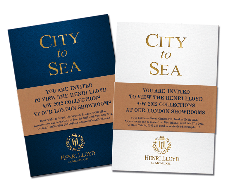 Henri Lloyd City To Sea Invites