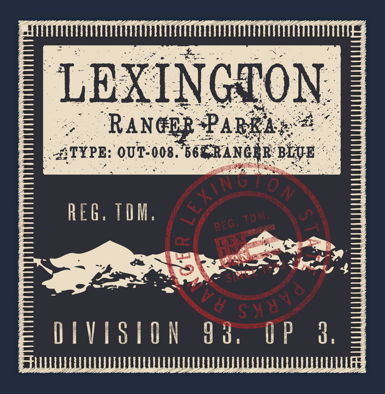 Lexington Ranger Parka Inner Label